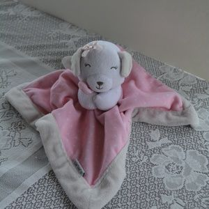 Carter's Plush Puppy Dog Pink Baby Lovey Blanket